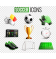 soccer icons transparent background set vector image