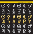 solar system symbols vector image