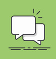 speech bubbles icon line design isolated vector image vector image
