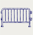 Steel barricades vector image