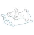 teddy is sleeping vector image vector image