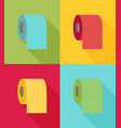 toilet paper color set flat icon modern flat icon vector image