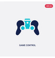 two color game control icon from augmented vector image vector image