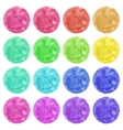 Watercolor colorful circles isolated on white vector image vector image