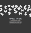 white jigsaw puzzle blank simple background vector image vector image