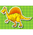 Yellow dinosaur with sharp teeth vector image vector image