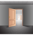 Open door leads to a bright future vector image
