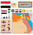 Egipt map vector image