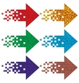 Multi-colored arrows to indicate vector image