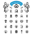 oktoberfest celebration beer festival icons and vector image