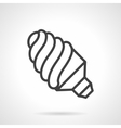 Power efficient lamp simple line icon vector image