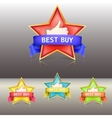 Best buy label with stars and ribbons vector image