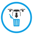 Air Drone Drop Trash Icon vector image vector image