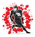 american football player sportsman action vector image vector image