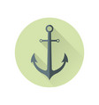 anchor in flat style vector image vector image