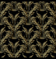 baroque gold embroidery seamless pattern vector image vector image
