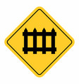 barrier railway cross traffic sign vector image vector image