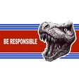 Be responsible - Presidential Election Poster with vector image