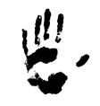 black handprint vector image