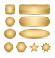 Blank Elegant Golden Buttons vector image vector image