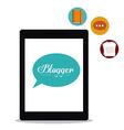 Blogger design vector image vector image