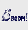 bomb in grunge style vector image vector image