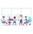 business meeting office room flat vector image vector image