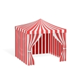 Carnival tent for outdoor party event vector image vector image