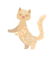 Cat Relaxed Cartoon Pet Animal With Closed Eyes vector image vector image