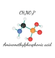 CH6NO3P Aminomethylphosphonic acid vector image vector image