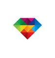 color diamond logo icon design vector image