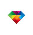 color diamond logo icon design vector image vector image