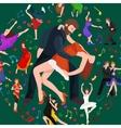 couple dancing modern dance vector image vector image