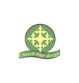 cross logo design template vector image vector image