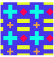 crosses and rectangles seamless pattern vector image