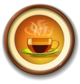 Cup of hot coffee glass vector image vector image