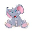 Cute baby elephant vector image vector image