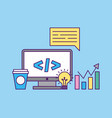 development computer codes vector image vector image