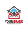 eagle and house for real estate logo vector image vector image