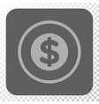 Finance Rounded Square Button vector image