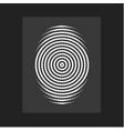 fingerprint modern flat circular lines vector image vector image