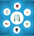 flat clothes set of t-shirt uniform casual and vector image vector image