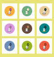 flat icons halloween set of grave monument and vector image vector image