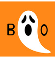 Happy Halloween Funny ghost with hands Boo text vector image vector image