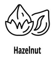 hazelnut icon outline style vector image