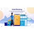 hotel room flight tickets booking banner vector image