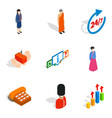 human capacity icons set isometric style vector image vector image