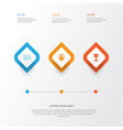 management icons set collection of personal badge vector image vector image
