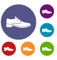 men shoe icons set vector image vector image