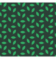 Minimalist green leaves seamless pattern vector image